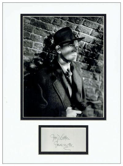 Joseph Cotten Autograph Signed - The Third Man